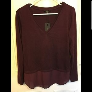 Dynamite sweater blouse
